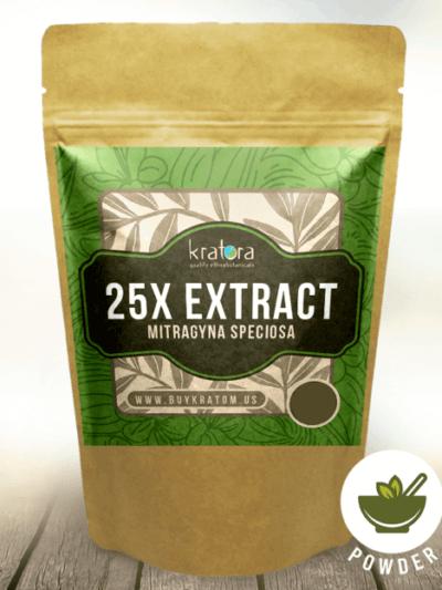 A Bag of Kratora's 25x Kratom Extract