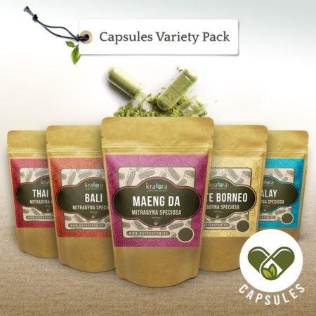 Kratom capsules variety pack