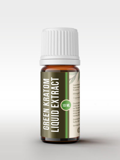 Bottle of Green Kratom Liquid Extract