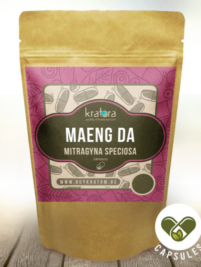 Pouch of Maeng da Mitragyna speciosa Capsules