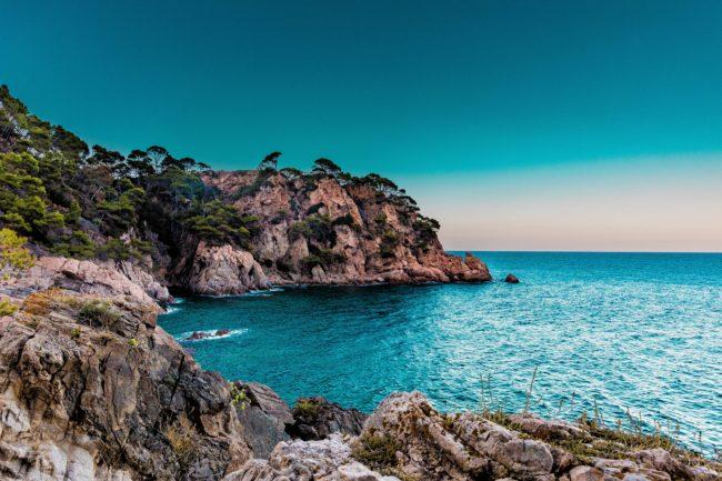Spain coastline