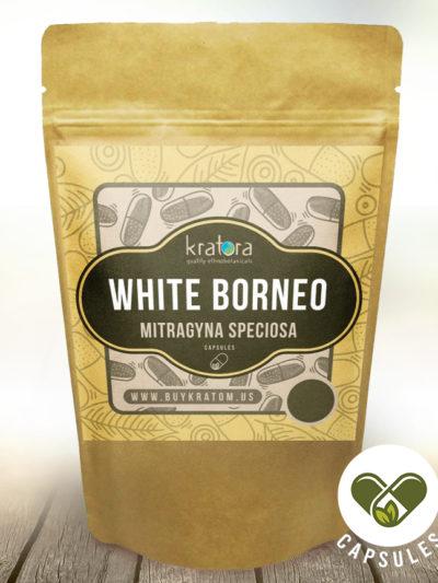 Pouch of White Borneo Mitragyna Speciosa Capsules