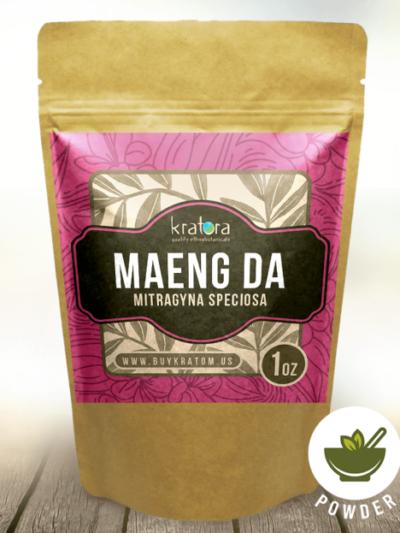 Pouch of Maeng da Mitragyna speciosa