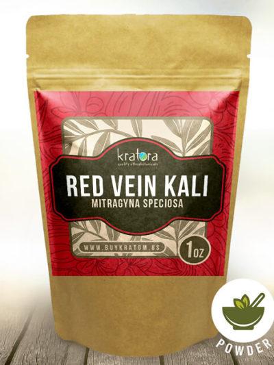 Pouch of Red Vein Kali Mitragyna speciosa